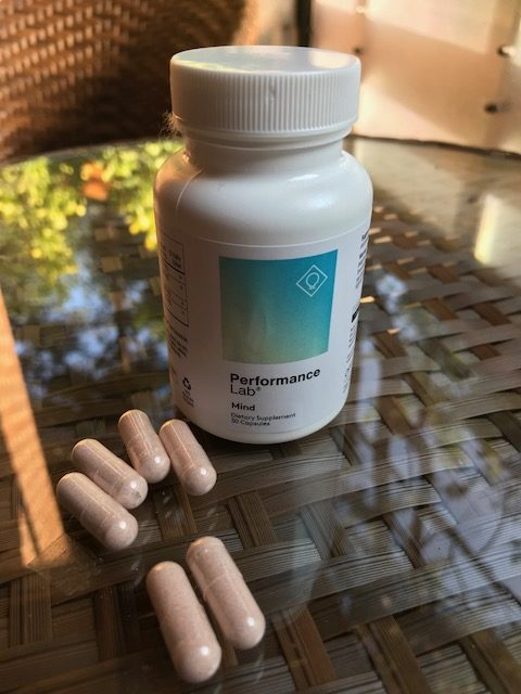 performance lab MIND bottle and capsules